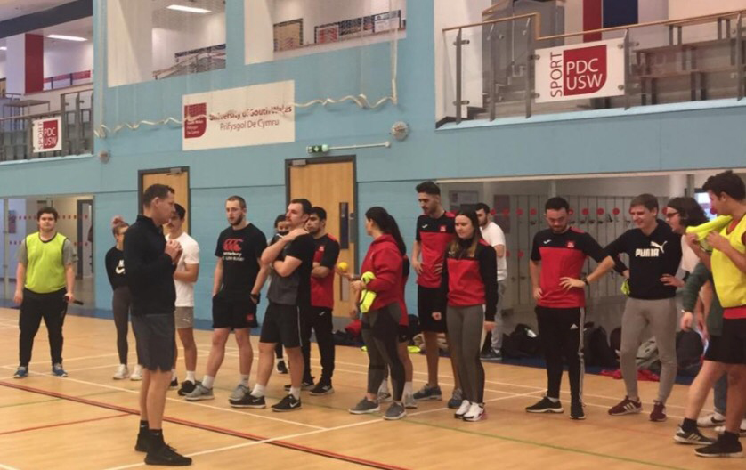 Sports students at USW